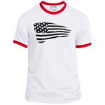 wills1mulisha American Pride Port & Co. Ringer Tee