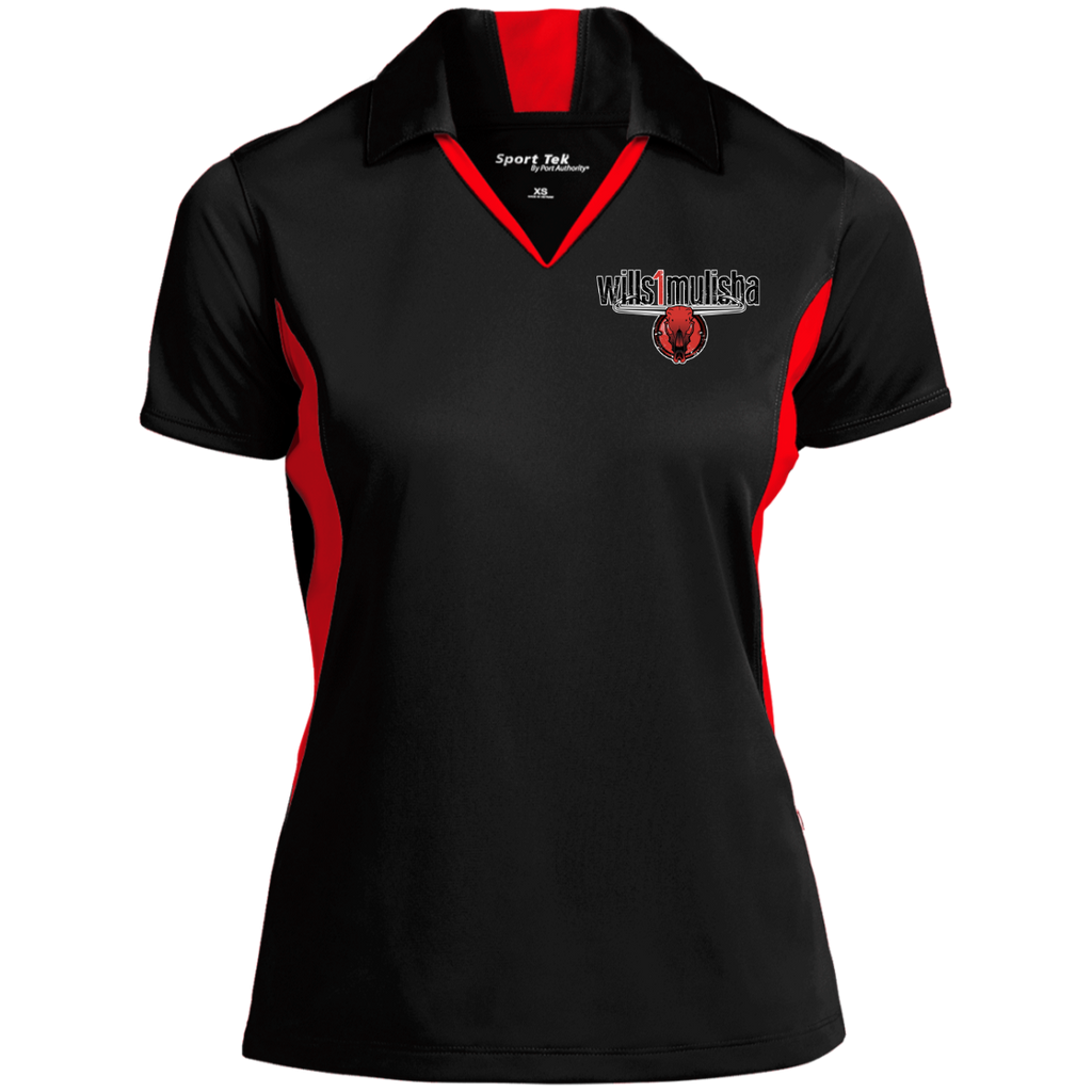 wills1mulisha Embroidered Sport-Tek Ladies' Colorblock Performance Polo