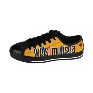 wills1mulisha Low Top Skater Men's Canvas Sneakers Orange