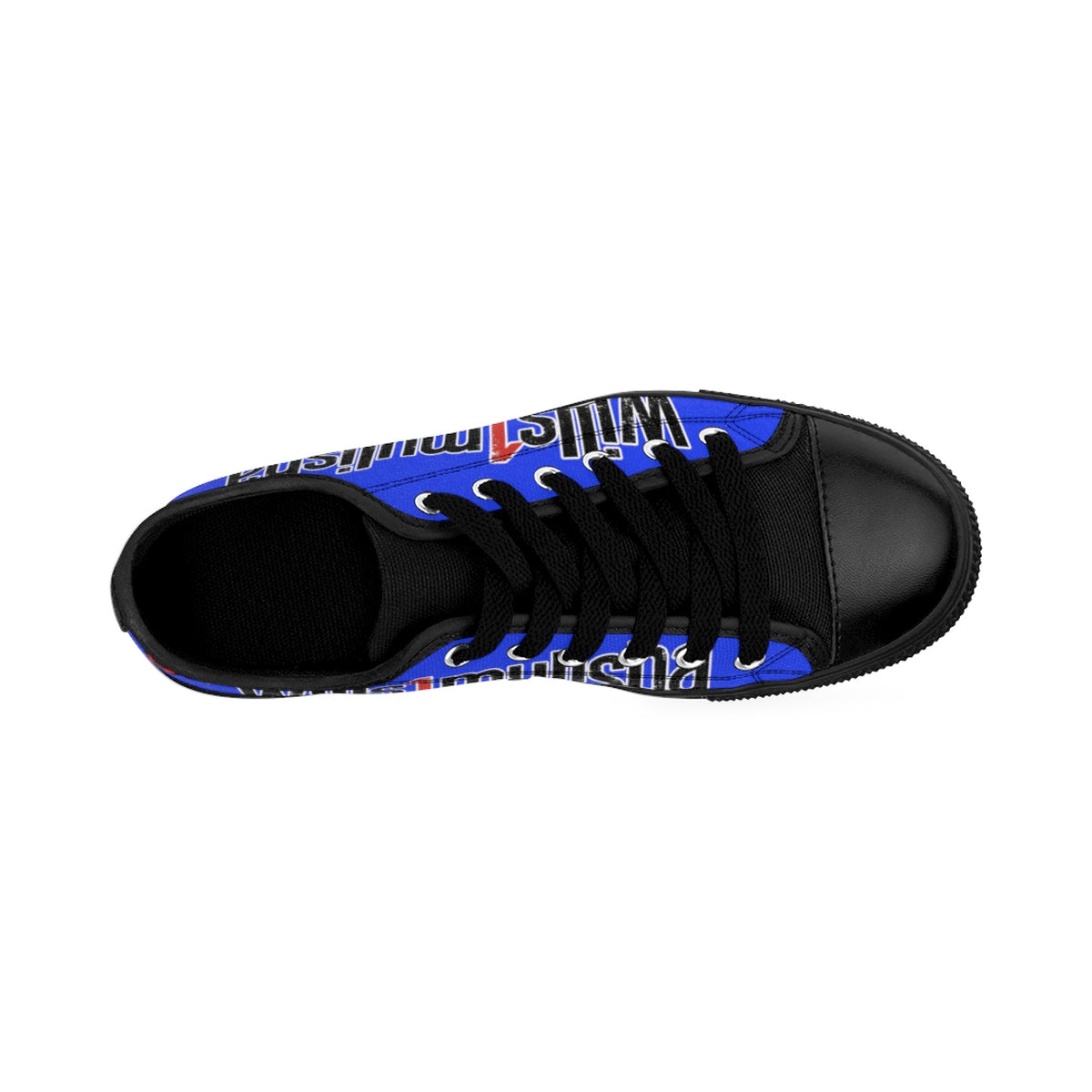 wills1mulisha Low Top Skater Men's Canvas Sneakers Blue