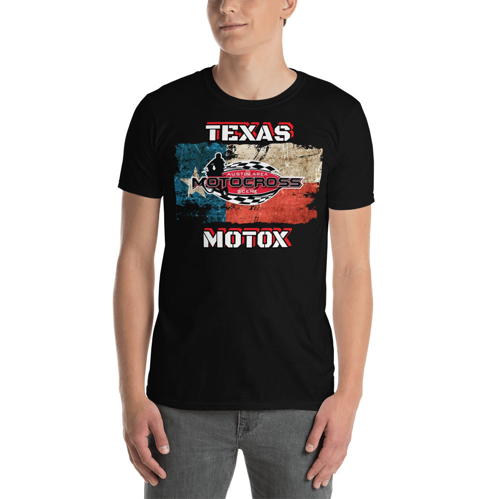 Austin Area Motocross Scene TEXAS MOTOX Short-Sleeve Unisex T-Shirt