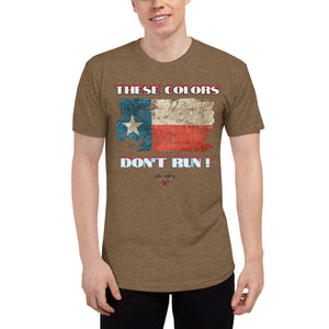 wills1mulisha Distressed Texas Flag THESE COLORS DON'T RUN ! Unisex Tri-Blend Track Shirt