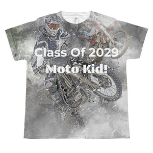 wills1mulisha Class Of 2029 Moto Kid All-Over Print Youth MX T-shirt