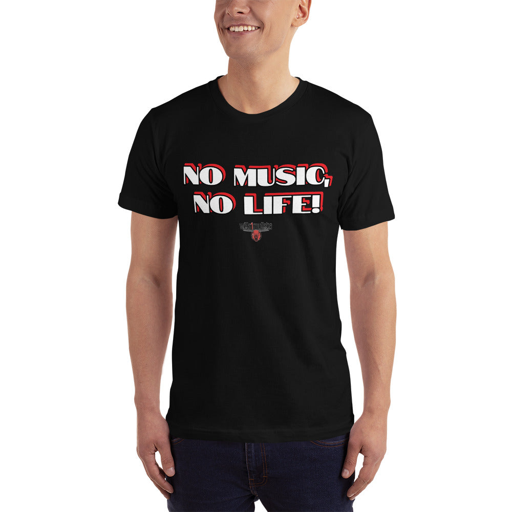 wills1mulisha NO MUSIC, NO LIFE! Unisex 100% Fine Jersey Cotton Made In USA T-Shirt