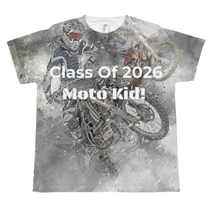 wills1mulisha Class of 2026 Moto Kid All-Over Print Youth Mx T-shirt