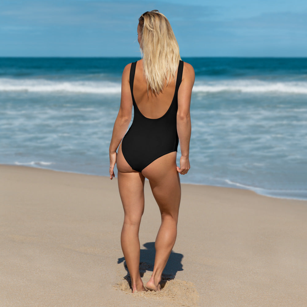 wills1mulisha Low Scoop Back Simple One-Piece Swimsuit