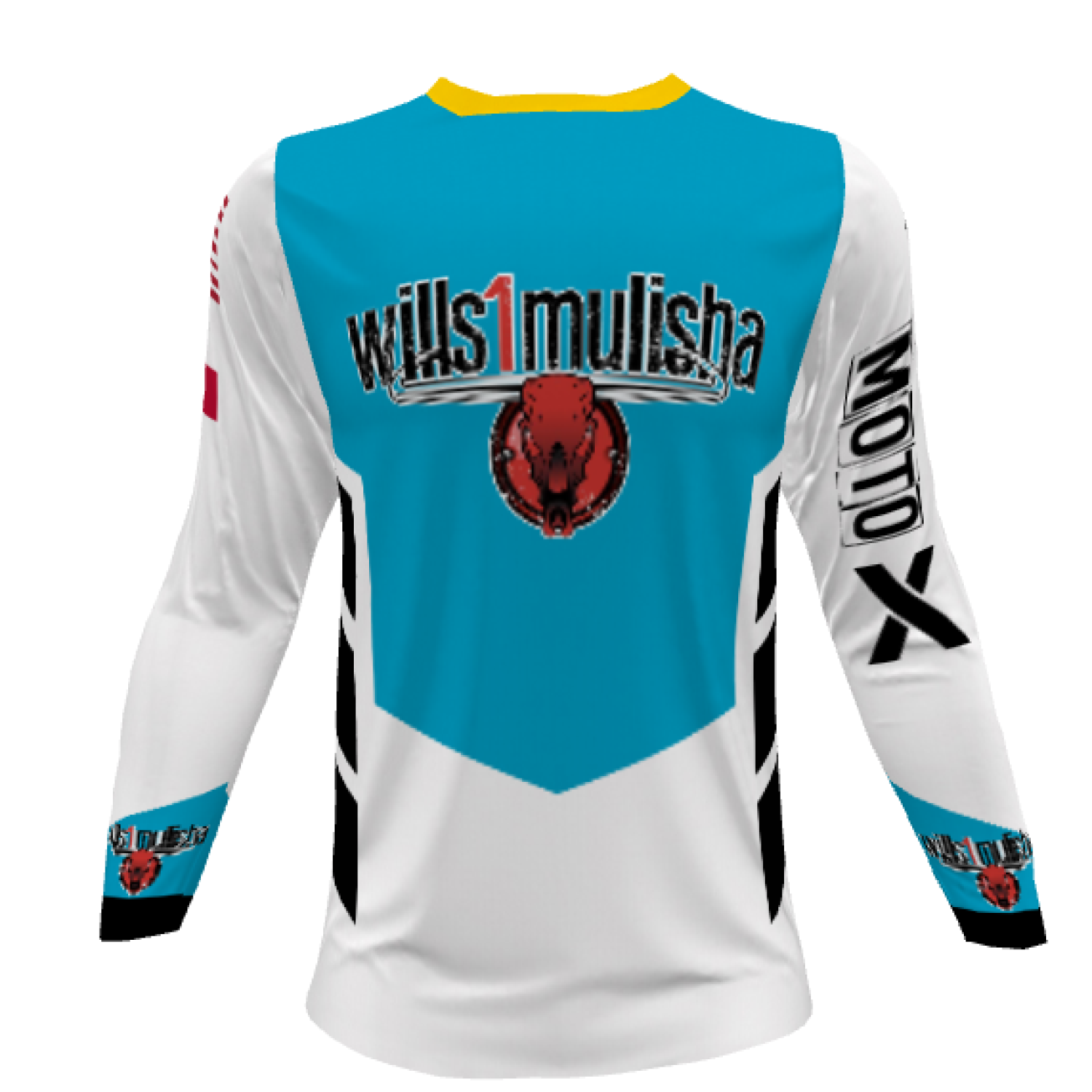 wills1mulisha MotoX Signature, Made In USA, 2020 Motocross Jersey With Name/Number, BARON