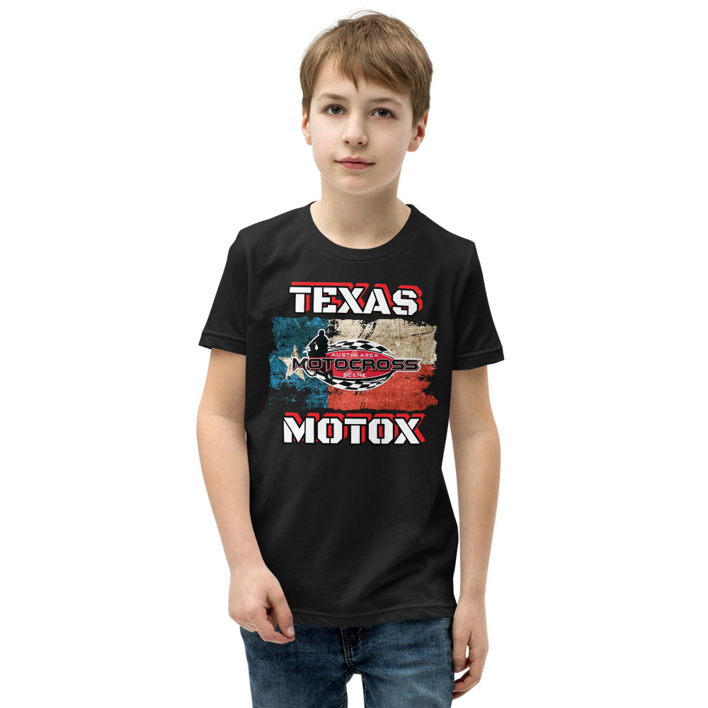 Austin Area Motocross Scene TEXAS MOTOX Youth Short Sleeve T-Shirt