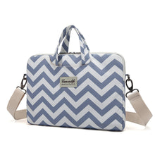 Load image into Gallery viewer, Laptop Canvaslife Chevron Style Fabric Canvas Shoulder Messenger Bag Case Sleeve Brand New