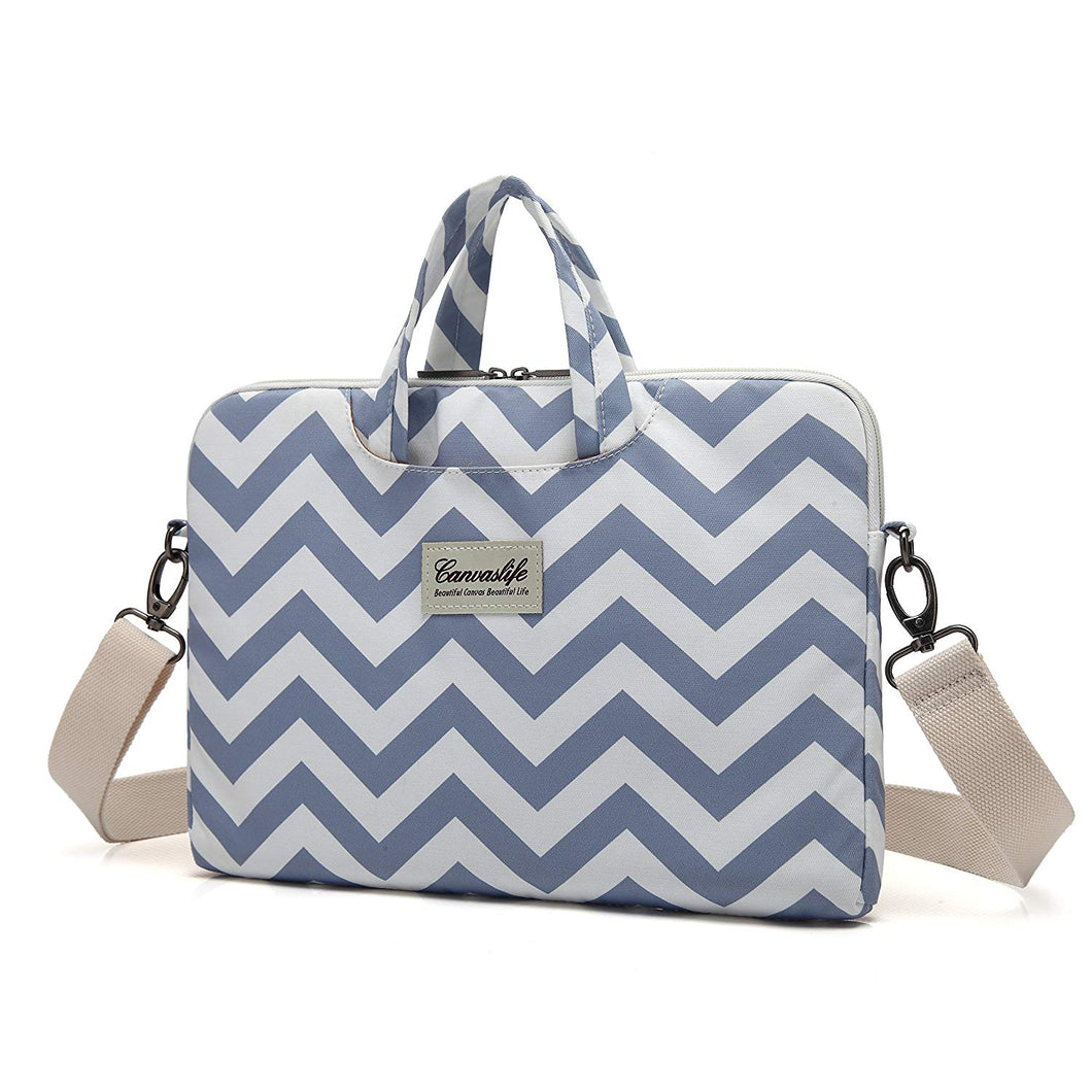 Laptop Canvaslife Chevron Style Fabric Canvas Shoulder Messenger Bag Case Sleeve Brand New