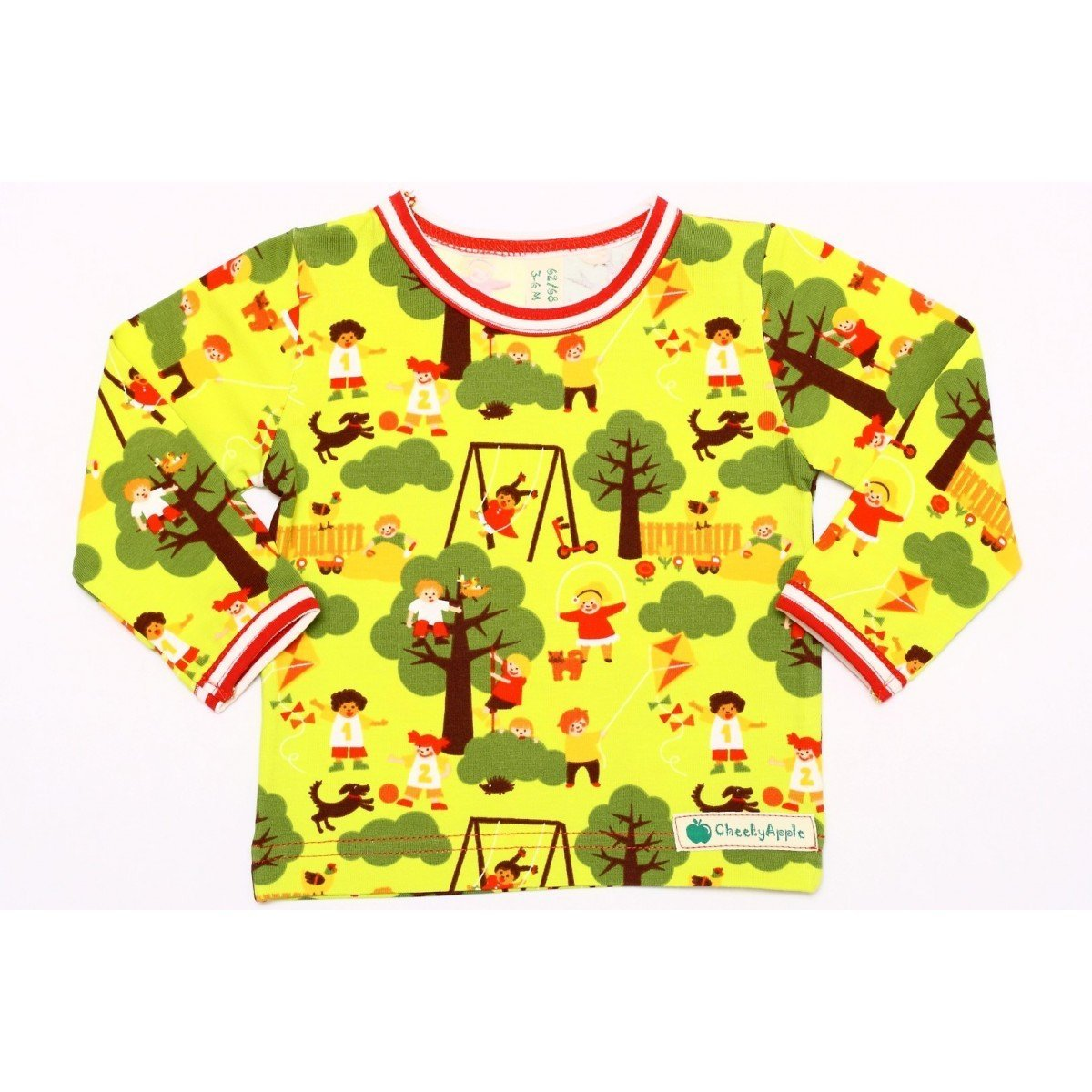 Langarmshirt Cheeky Apple - Langarm Shirt Playtime - bio und fair