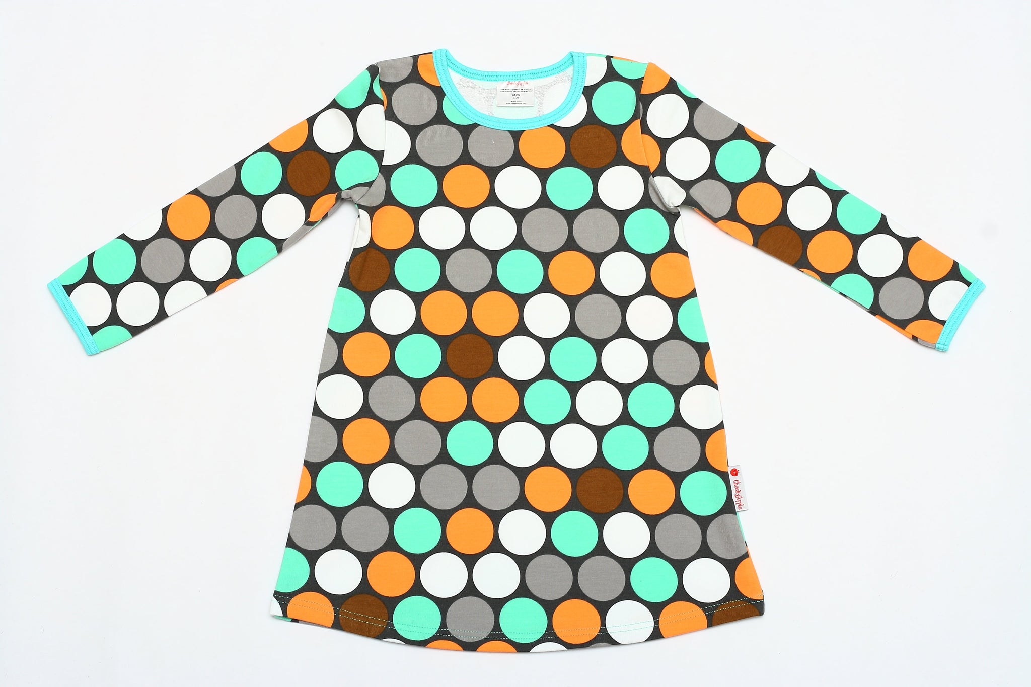 Kleid Cheeky Apple - Langarm Sweat-Kleid Dotties - bio und fair