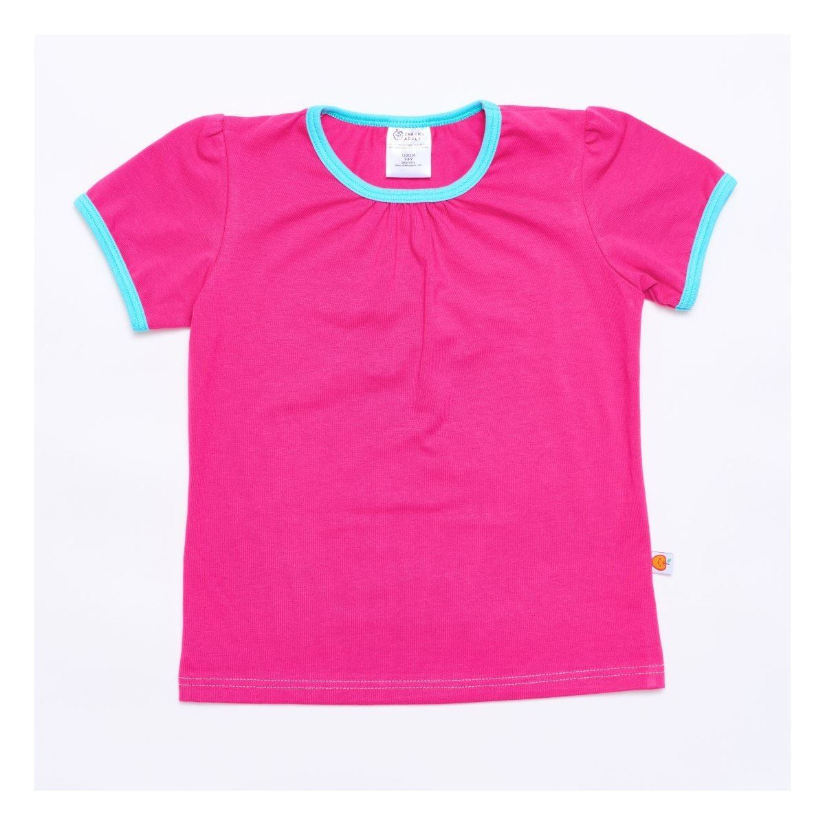 Shirt Cheeky Apple - Shirt Fuchsia/Mint - bio und fair