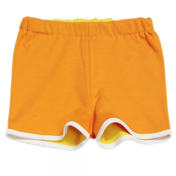 Hose Soova - Wendeshort gelb/orange - bio und fair