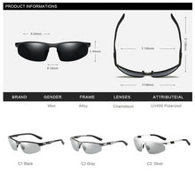 Load image into Gallery viewer, Photochromic Sunglasses For Men