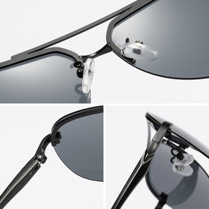 Rimless Aviation Sunglasses For Men