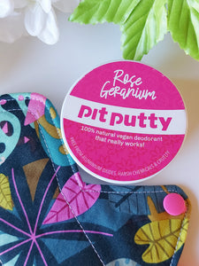 Pit Putty Deodorant - Rose Germanium - 65g