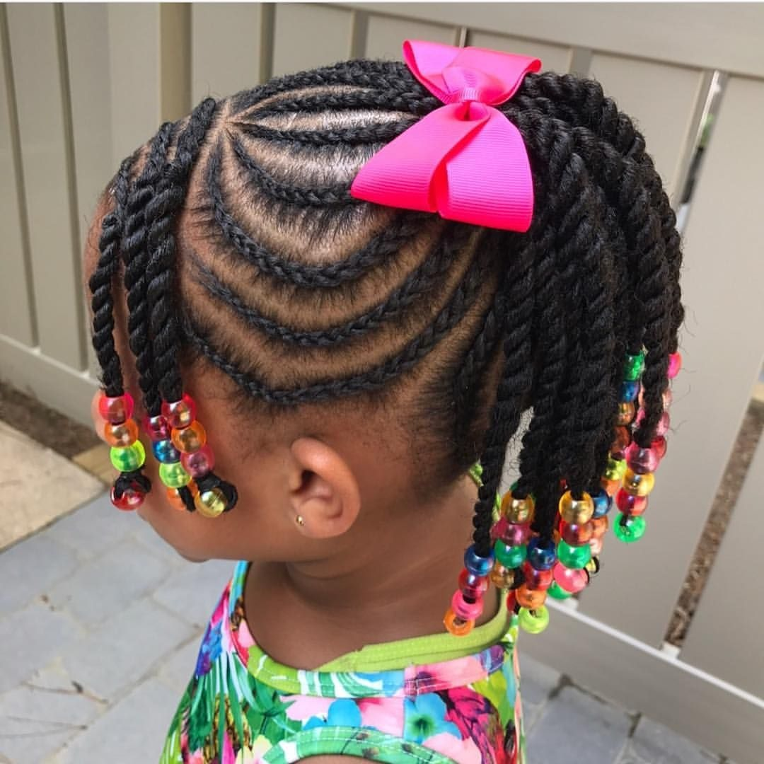 Ponytail style for young Black Girls