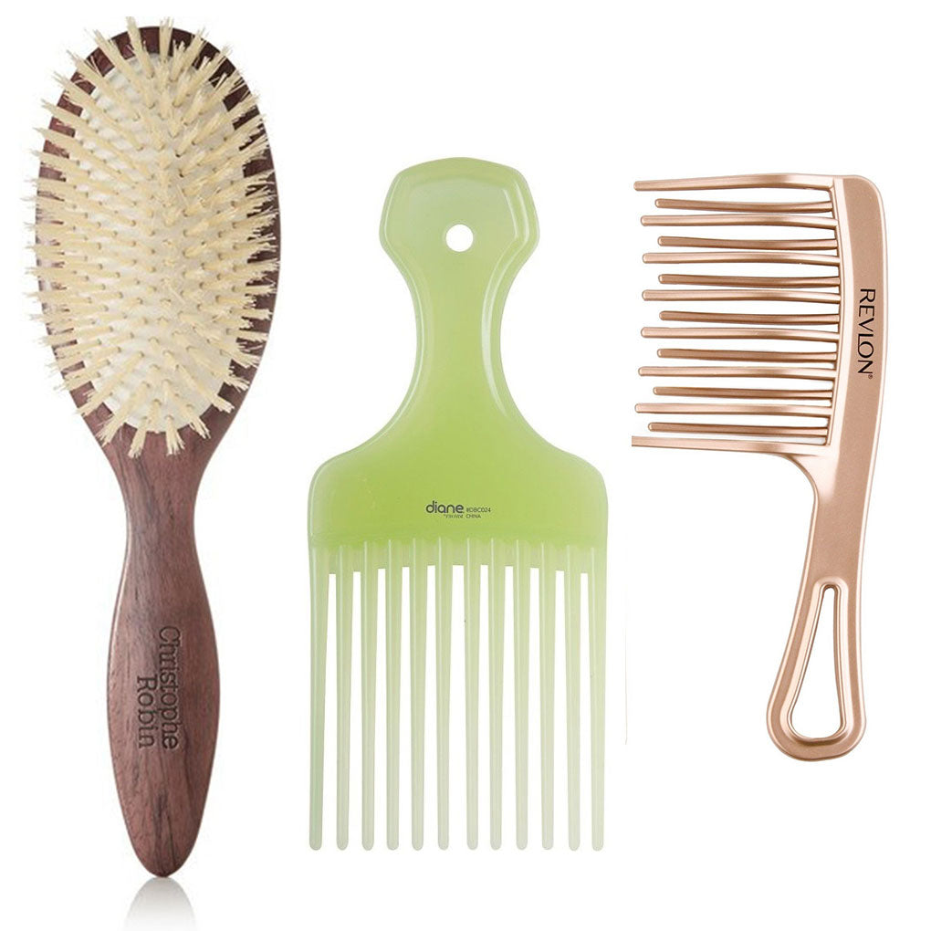 Curly Hair Hairbrush Or Comb