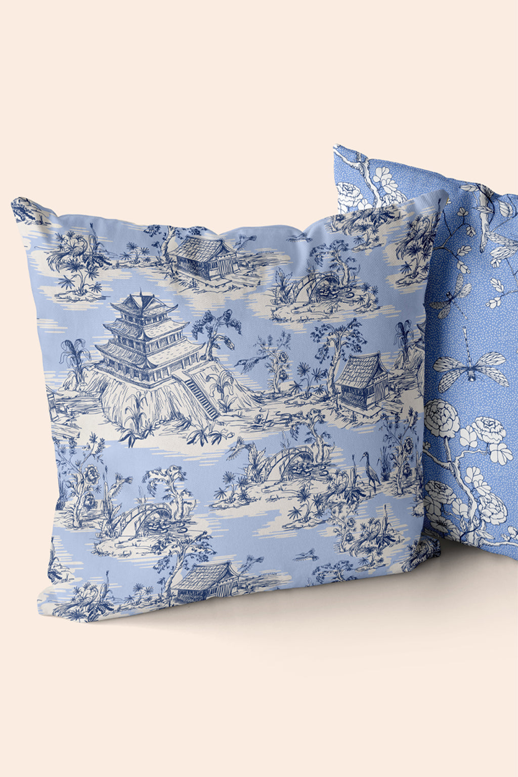 Hope Gardens, Color Blue Pillow