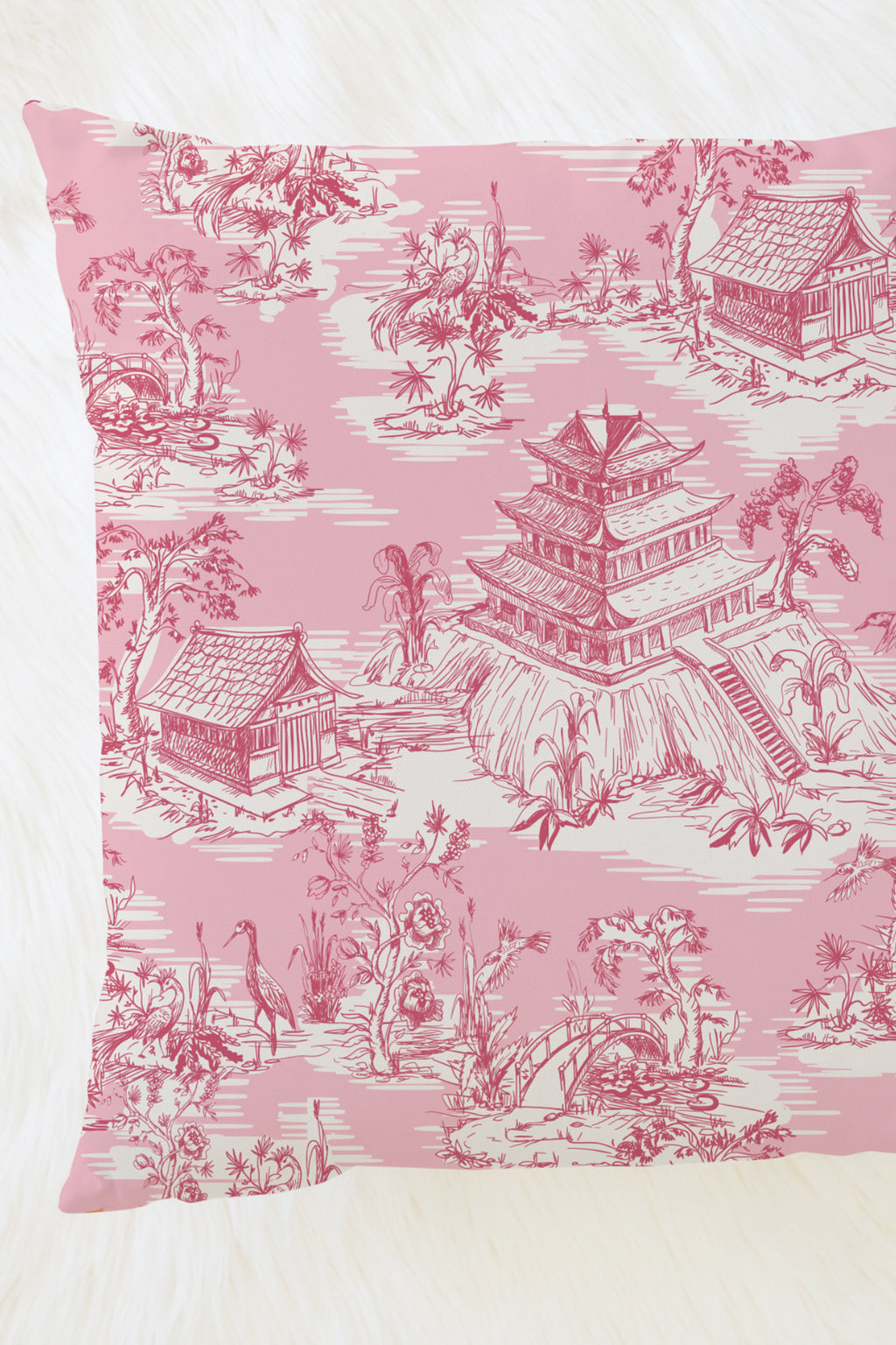Hope Gardens, Color Pink Pillow