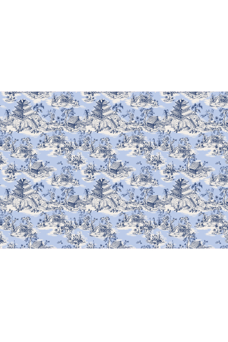 Hope Gardens Fabric, Color Blue