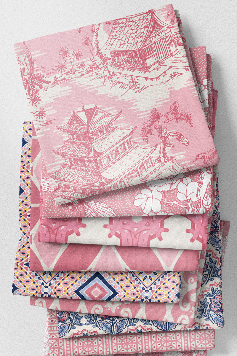 Hope Gardens Fabric, Color Pink