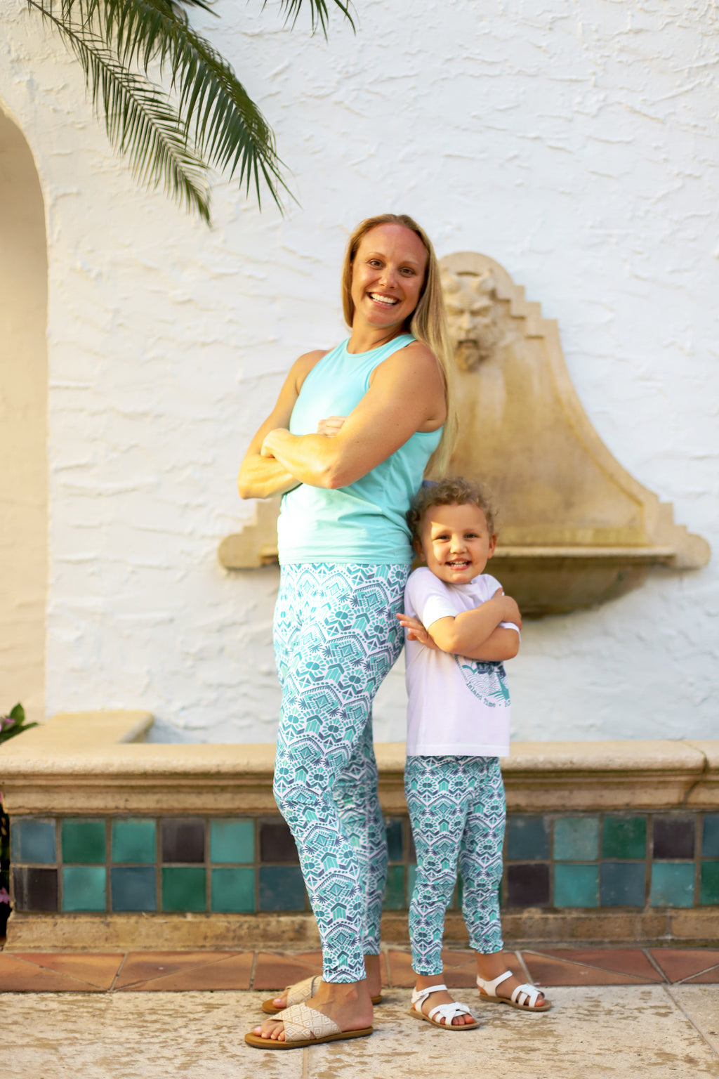 Seaforth Blue UPF 40 Leggings