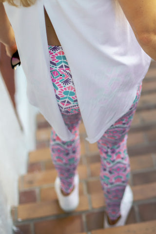 Pink Sands UPF 40 Leggings