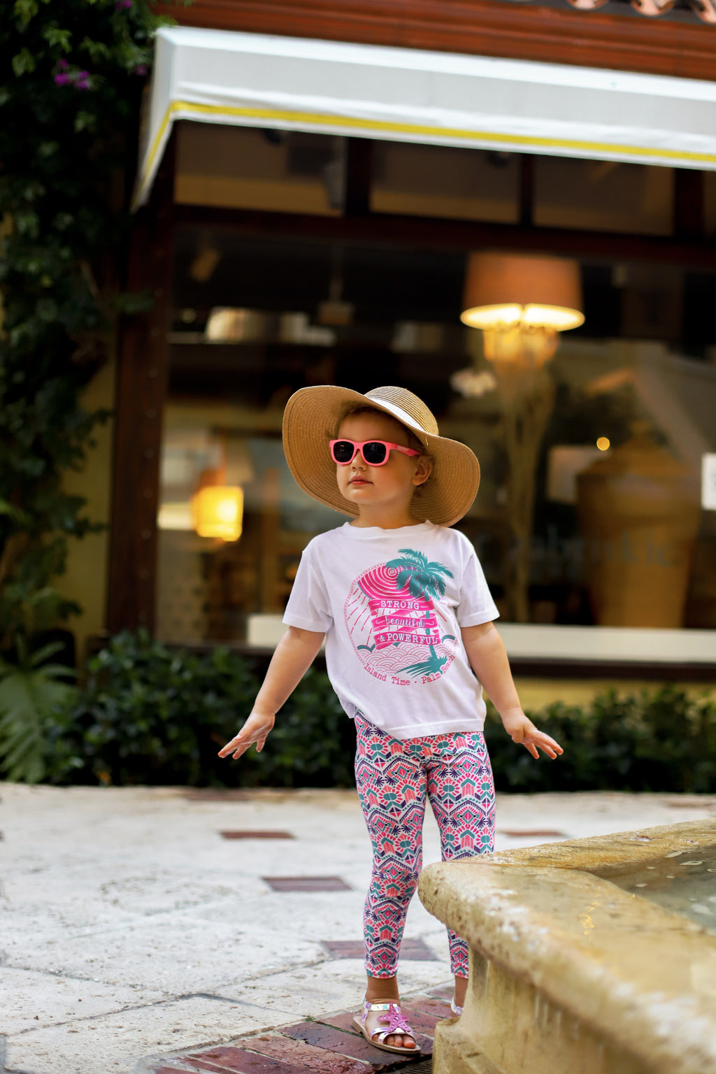 Kid's T-shirt- Pink and Turquoise