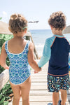Juniors Seaforth Blue Swimsuit