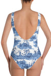 Women's Blue Pagoda Swimsuit