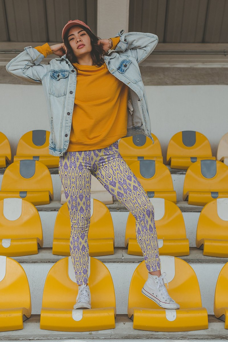 Purple & Gold Leggings