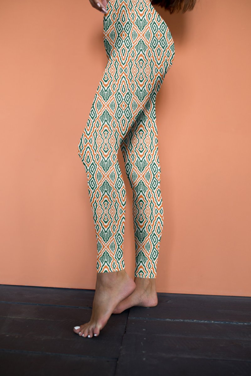 Green & Orange Leggings