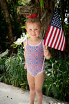 Juniors Red, White & Blue Swimsuit