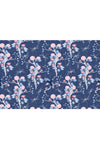 Chinoiserie Blossom Fabric, Color Navy