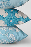 Chinoiserie Blossom Fabric, Color Turquoise