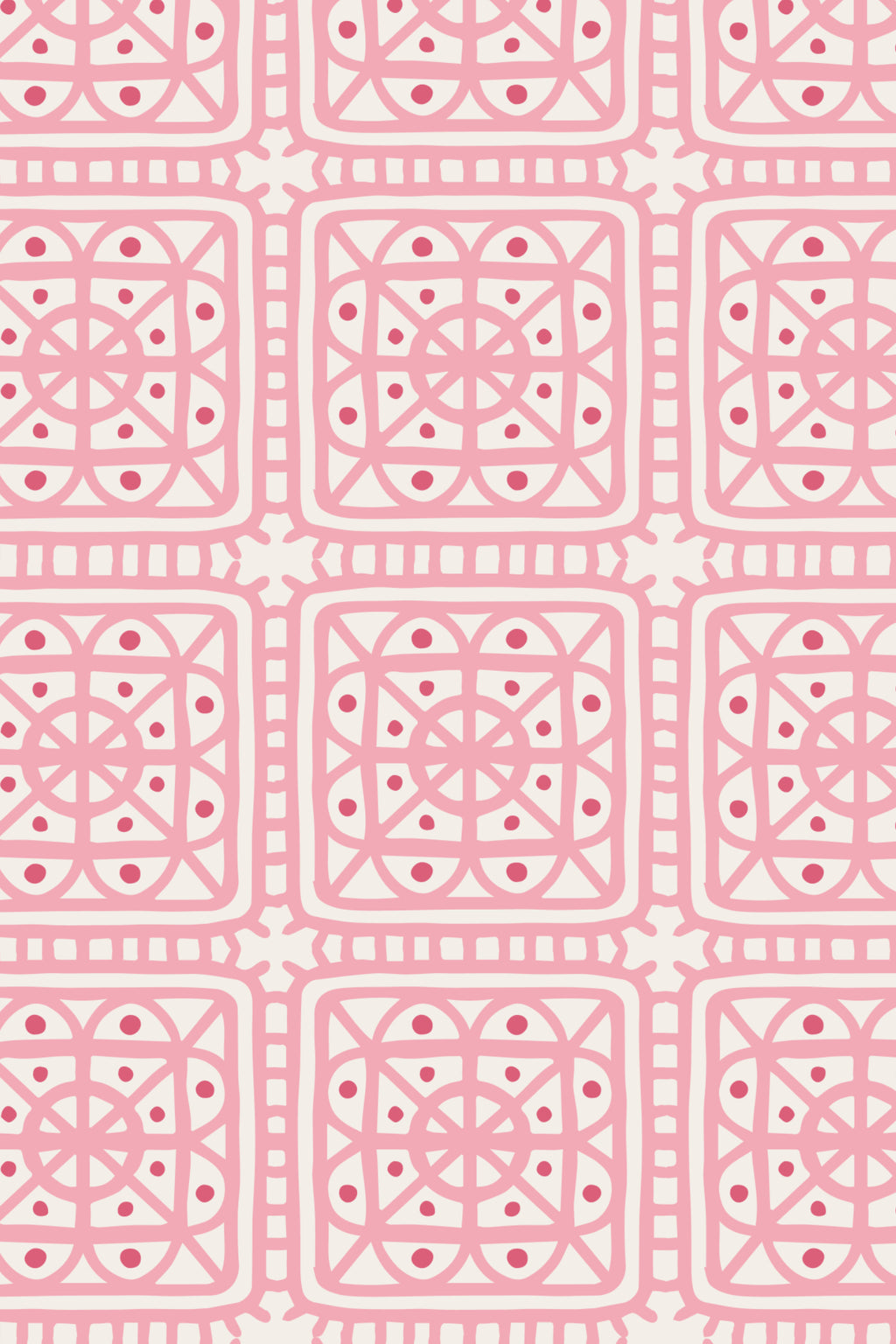 Fairy Hill Fabric, Color Pink