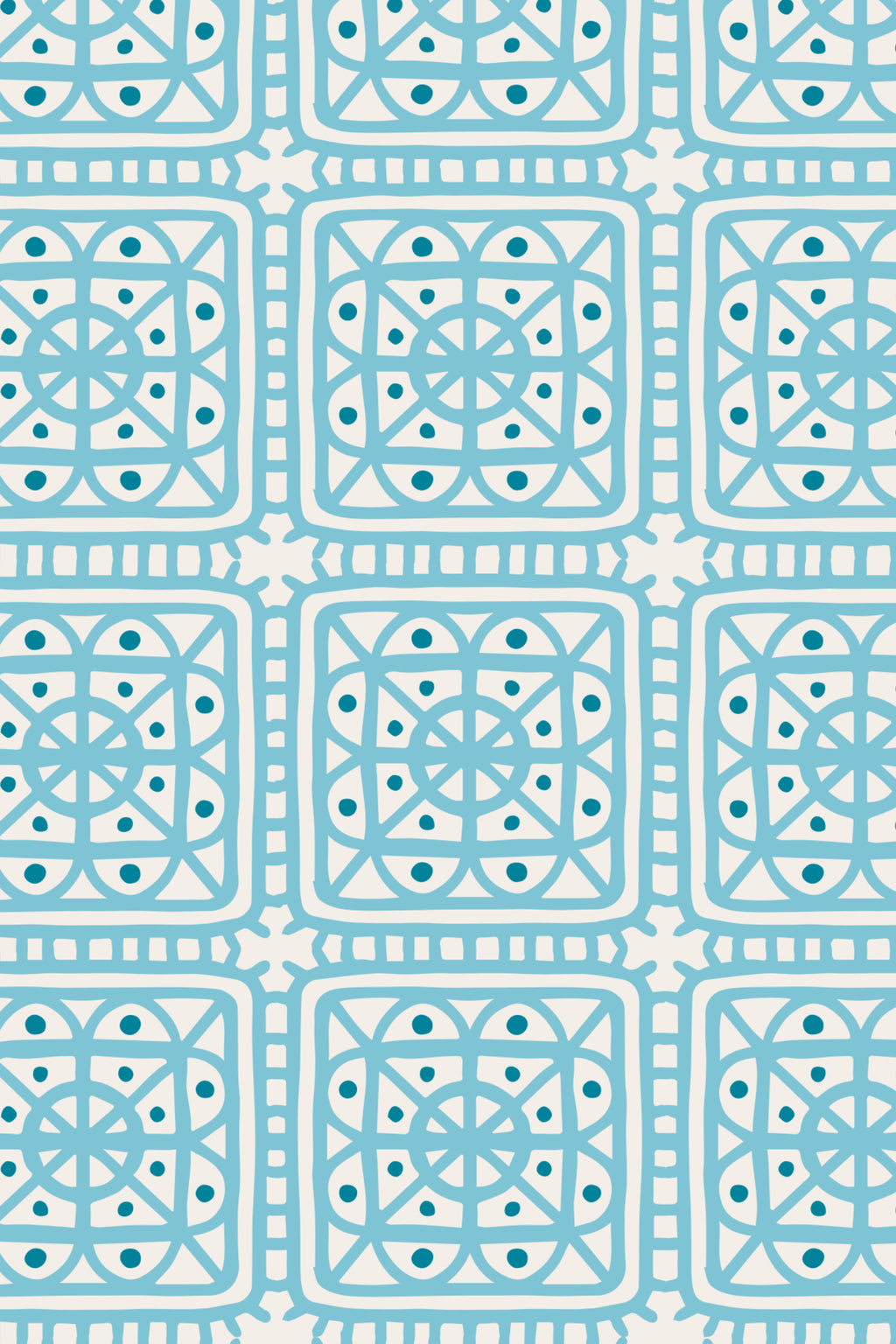 Fairy Hill Fabric, Color Turquoise