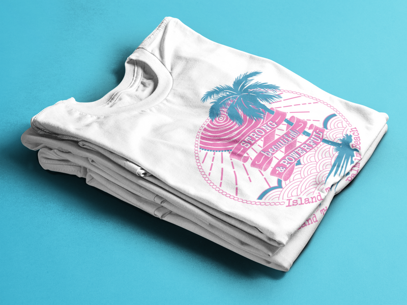Juniors T-shirt- Pink & Turquoise