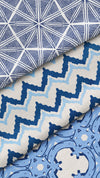 Play Along Chevron Blue Fabric