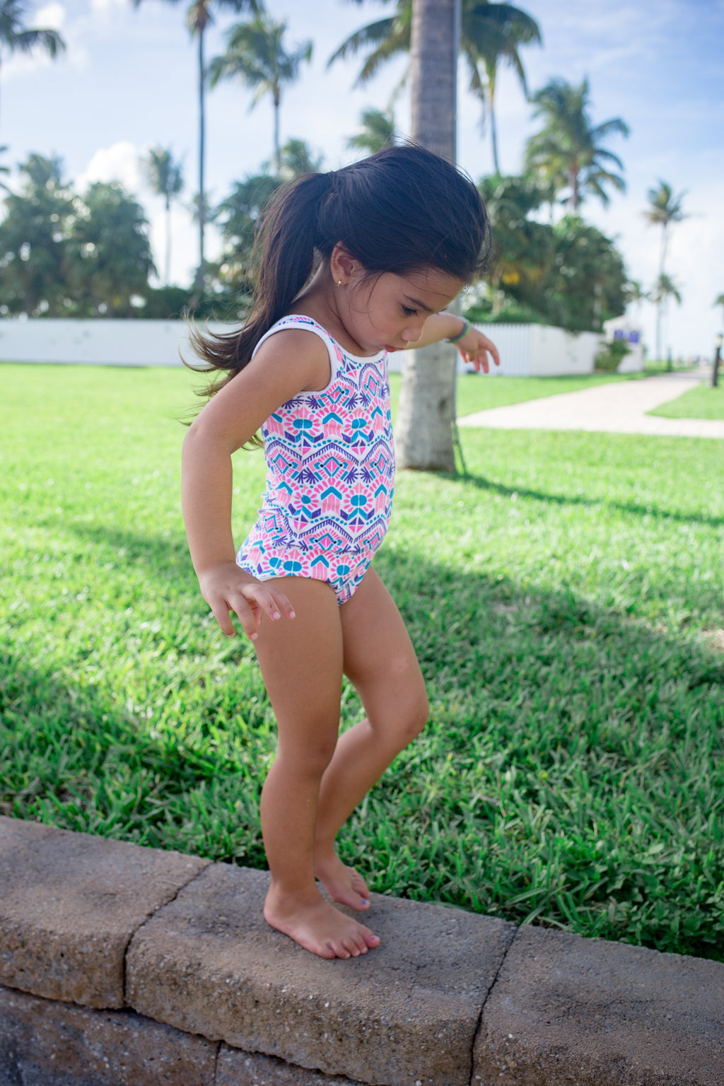 Kids Seaforth Pink Swimsuit