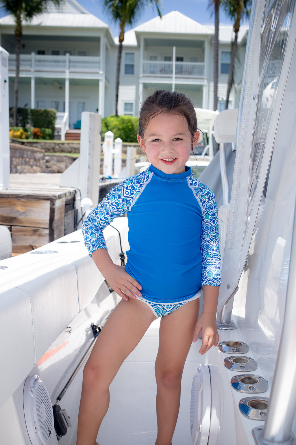 Kids Seaforth Blue Rash Guard