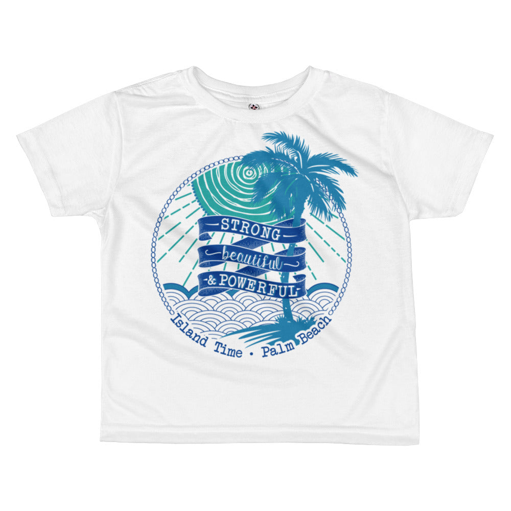 Kid's T-shirt- Turquoise and Blue