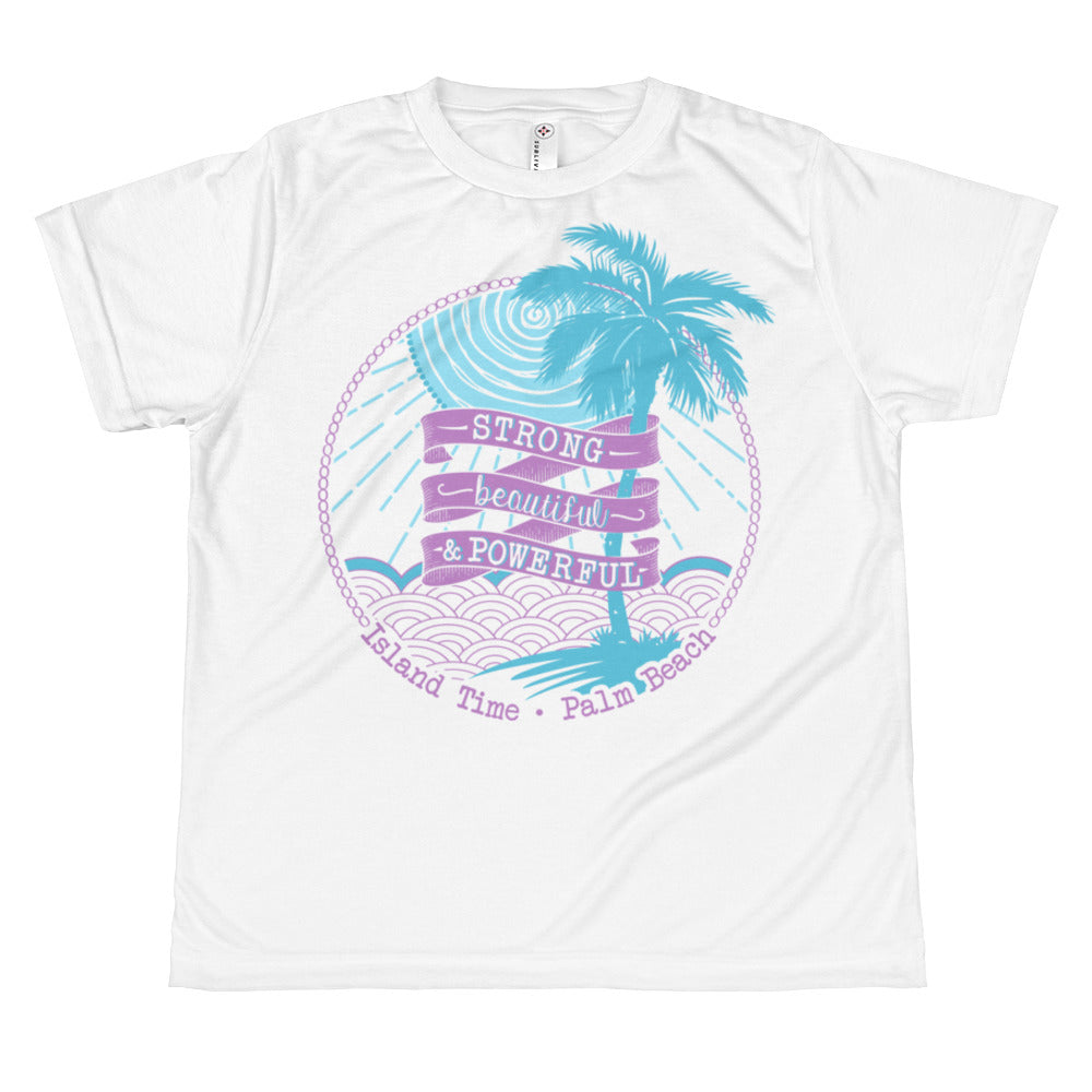 Juniors T-shirt- Light Purple and Aqua