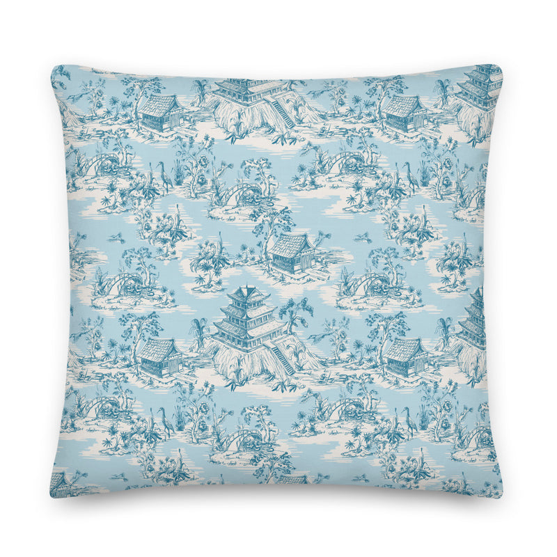 Hope Gardens, Color Turquoise Pillow