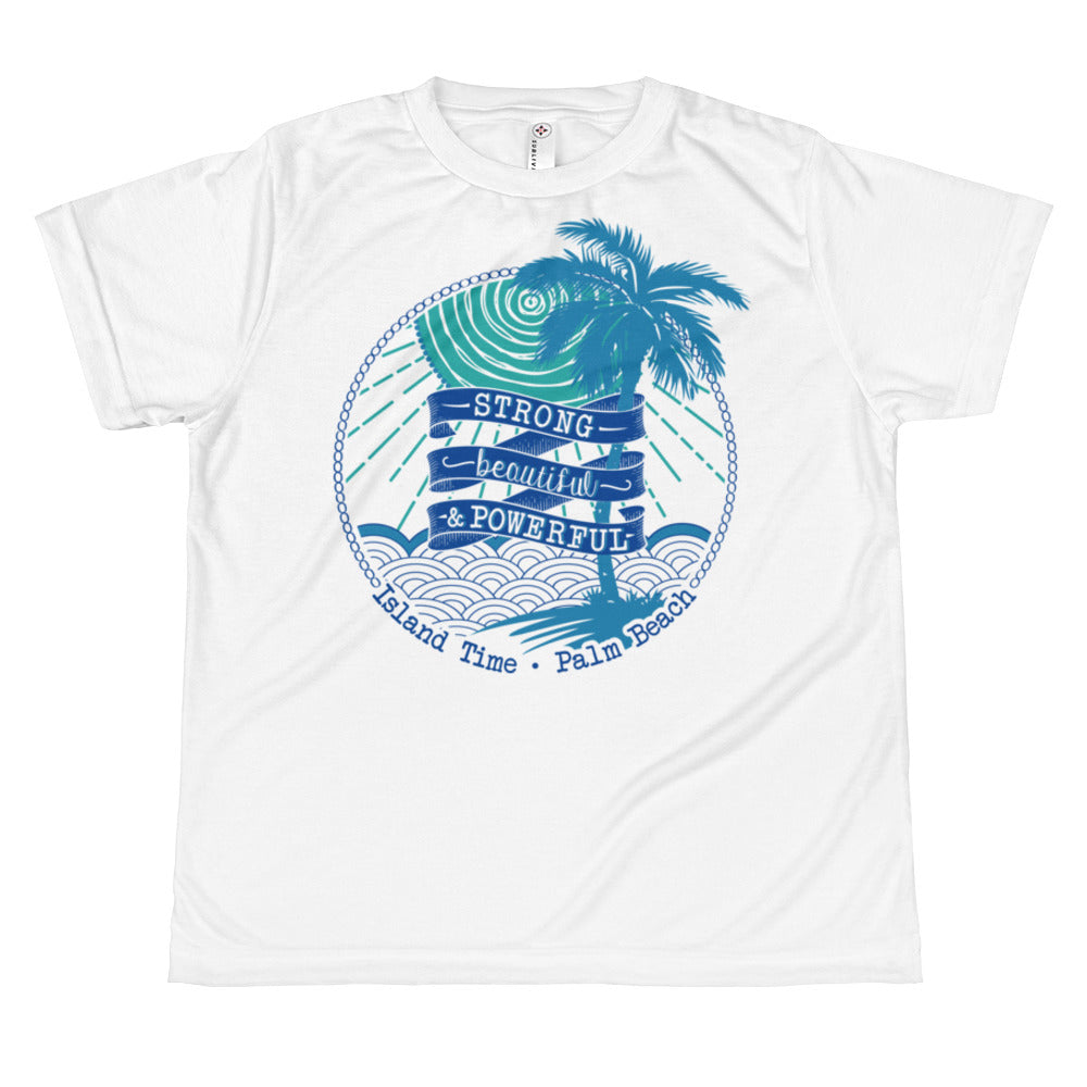 Juniors T-shirt- Turquoise and Blue
