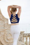 Navy Twist Back Tank