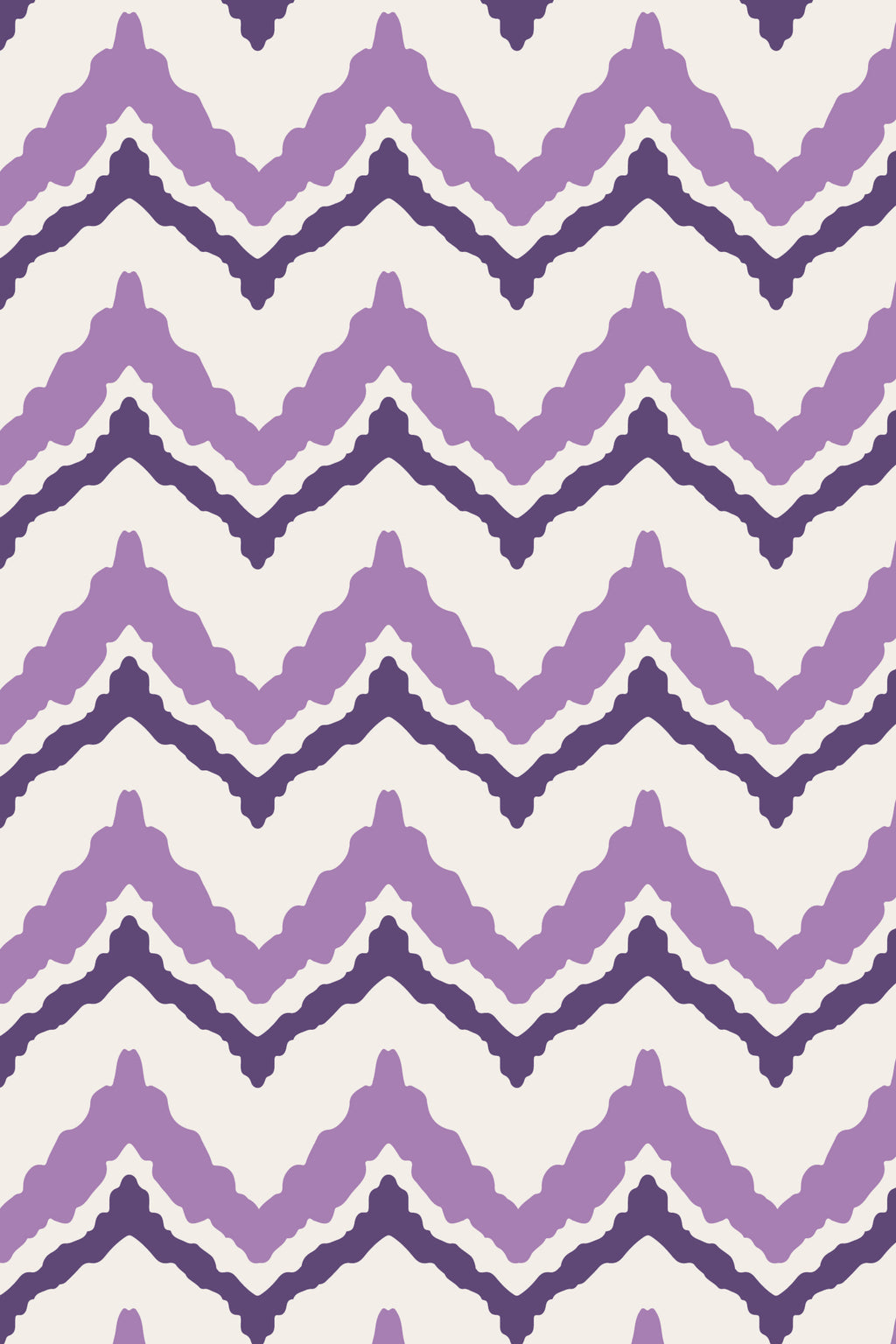 Play Along Chevron Plum Fabric