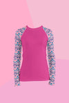 Women's Seaforth Pink UPF 40 Rash Guard